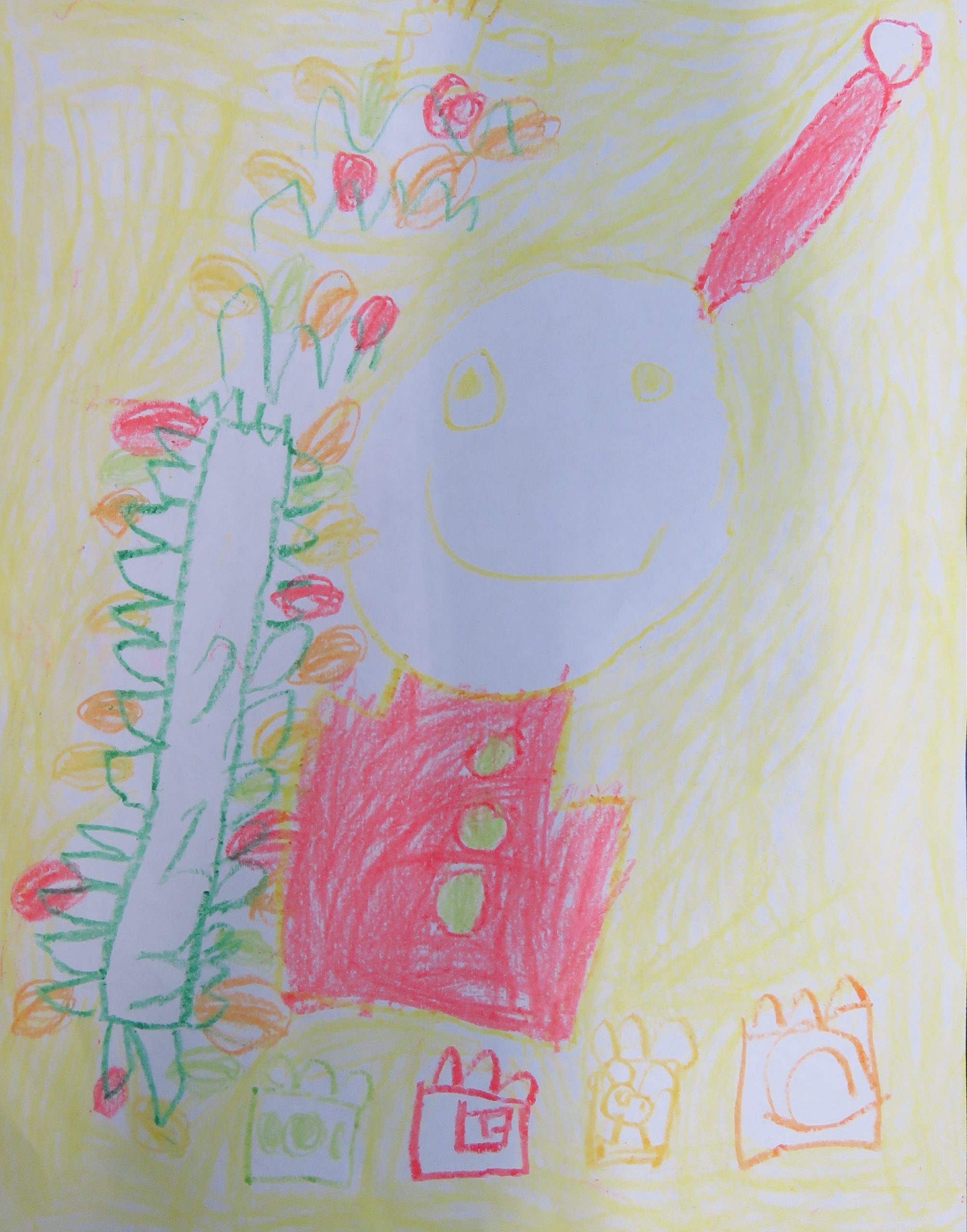 "Alexa B., Age 6, ""Santa,"" Crayon, Seaside Clubhouse"
