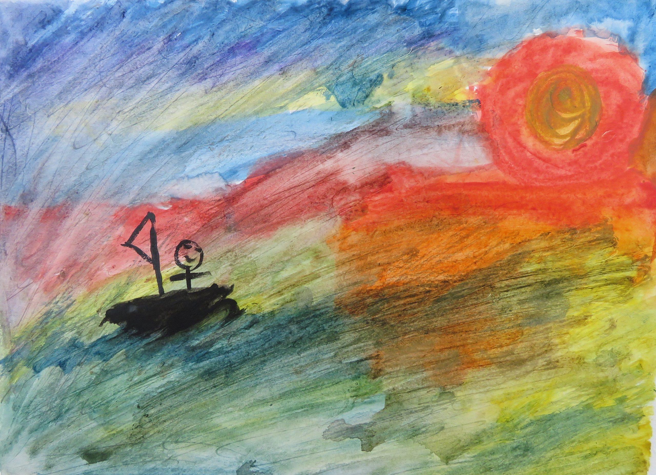 SEA Conrad U 12 Untitled Watercolor