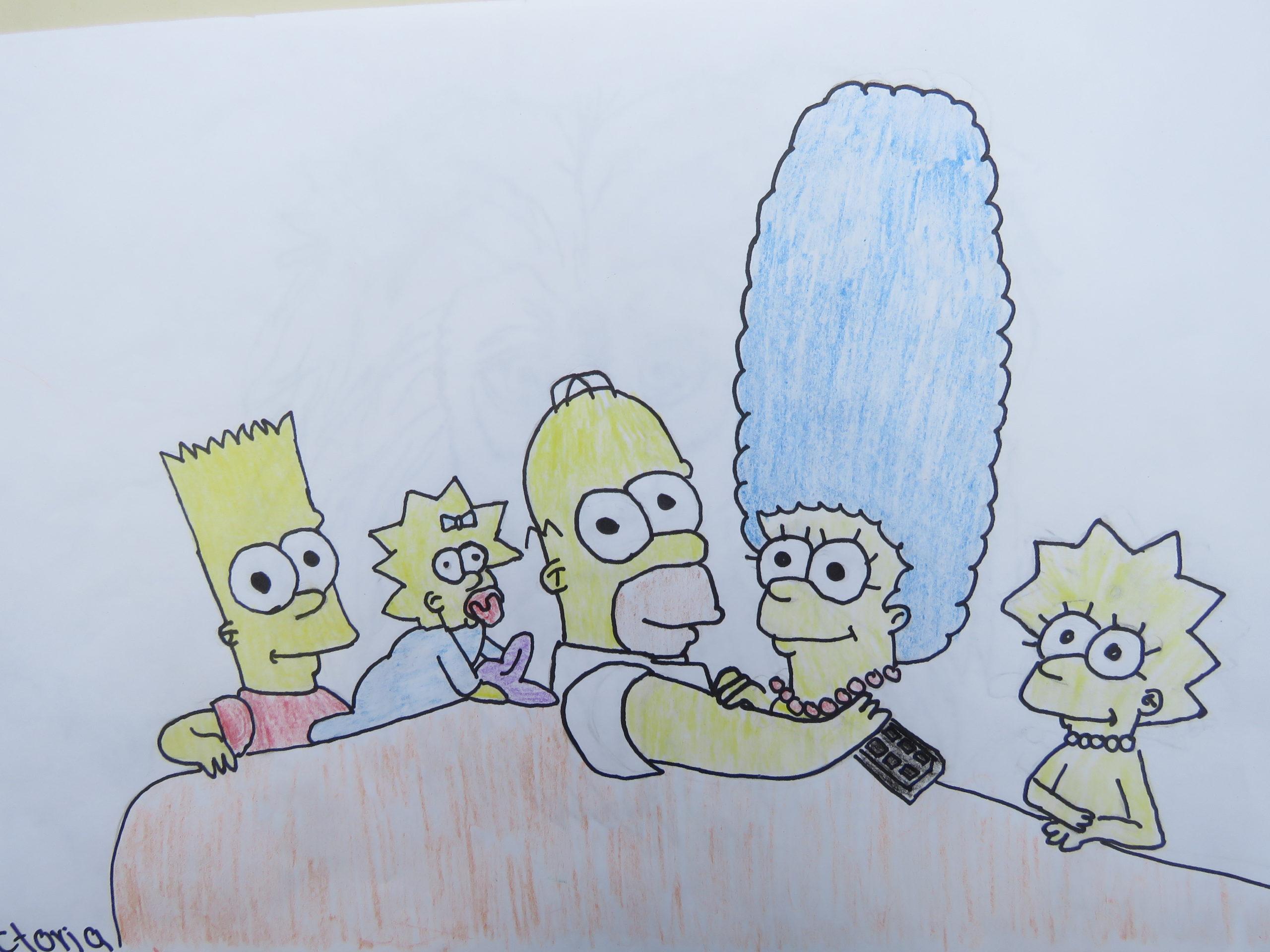 SEA Victoria R 11 The Simpsons Colored Pencil