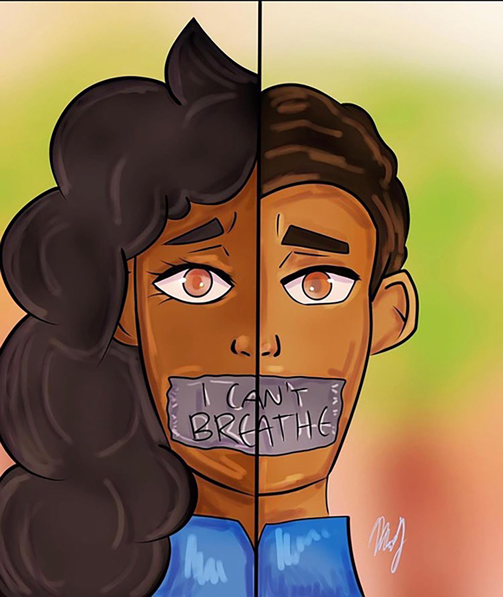 VIR Nayeli J 14 Black Lives Matter digital illustration